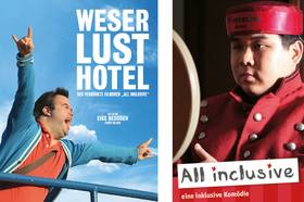 "Filmplakate ""Weser Lust Hotel"" und ""All Inclusive"""